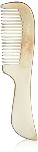 The Art of Shaving Mustache Comb - Handmade Natural Horn Comb, Contains Keratin to Smooth Hair and Promote Shine
