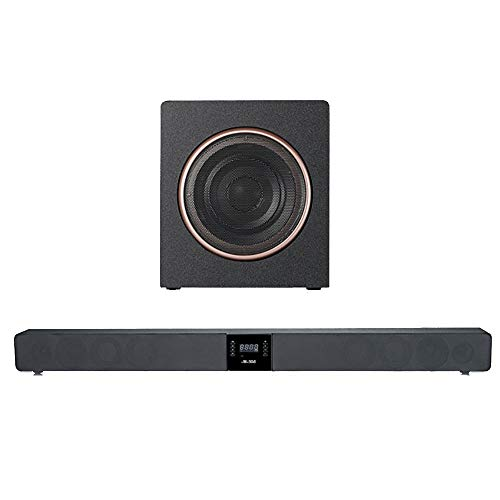 N-S08M / Barra de Sonido, Soporte de Sonido para TV, Home Cinema con subwoofer, Bluetooth 4.0, USB, Optical, COAXIAL, Mando a Distancia, Compatible con Todos los Sistemas habituales.