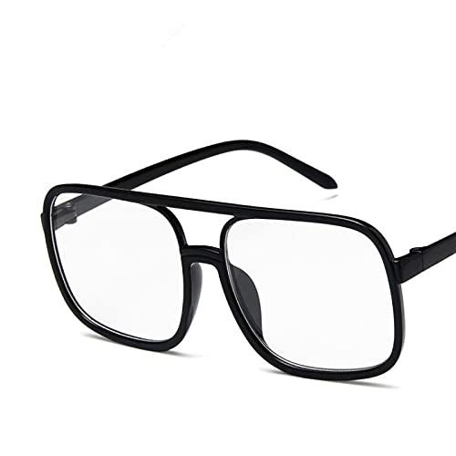 Sunglasses Gafas de Sol de Moda Lindas Gafas De Sol Cuadradas Sexis De Lujo con Montura Grande para Mujer, Gafas De Sol