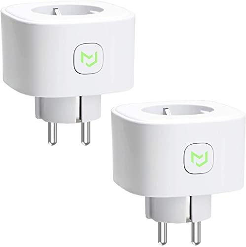 Enchufe Inteligente 16A 3680W, con Control Remoto Meross app, Compatible con Alexa, Google Assistant y SmartThings, Wi-Fi Smart Plug. Paquete de 2