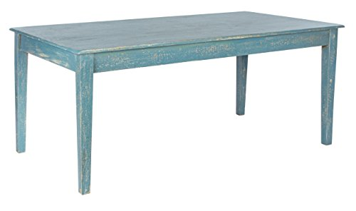 Bizzotto Ania Tavolo, Legno, Blu, 180x90x76 cm