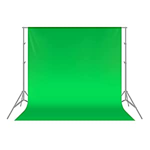 Neewer 6 x 9FT / 1.8 x 2.8M PRO Photo Studio 100% Pure Muslin Collapsible Backdrop Background for Photography,Video and Televison (Background ONLY) - Green