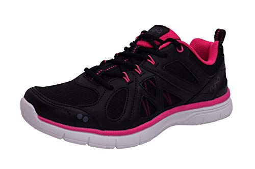Ryka Women's Divine Training Shoe,Black/Athena Pink/Frost Grey,US 9.5 M