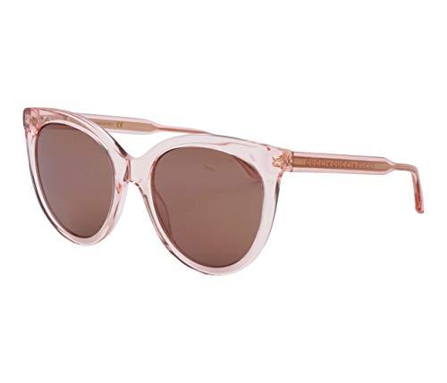 Gucci Unisex – Erwachsene GG0565S-004-54 Sonnenbrille, Pink Kristall, 54