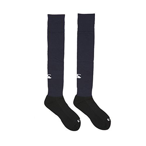 Canterbury Herren Mannschaft Rugby Socken Bekleidung Plain Playing Socken, Blau (Navy), S (Herstellergröße: Youth 2 - 5)