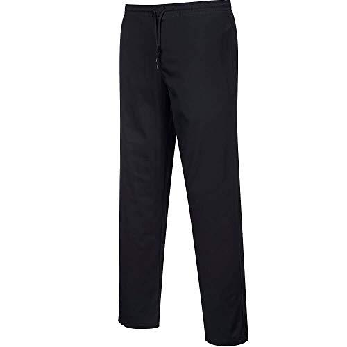Pantalon de cuisine noir déperlant - Noir - Taille L