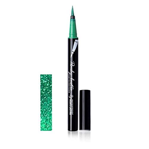 Green Eyeliner Pen Waterproof Eye Liner Sweatproof Long Lasting Professional Smudgeproof and Waterproof, Natural Eye Liner Seal Eye Pencil with High Precision (G)