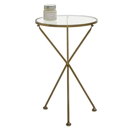 Home&Selected fineer/ronde side/fin/koffie/tafellamp, glas, helder, goud, 40 x 62 cm
