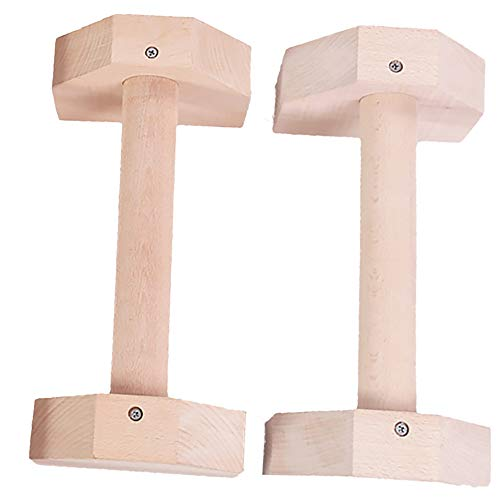 Wood Parallettes for Calisthenics, Gymnastics, Yoga, Hand Stand Bars, Press up Handles Upright Push-up Stand Solid Wood Household Stand 30cm