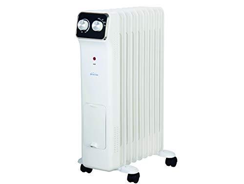 PURLINE HOTI OR2000 Radiador de Aceite, 2000 W, 9 Elementos, termostato, 3 Niveles de Potencia, regulador de Potencia para un bajo Consumo