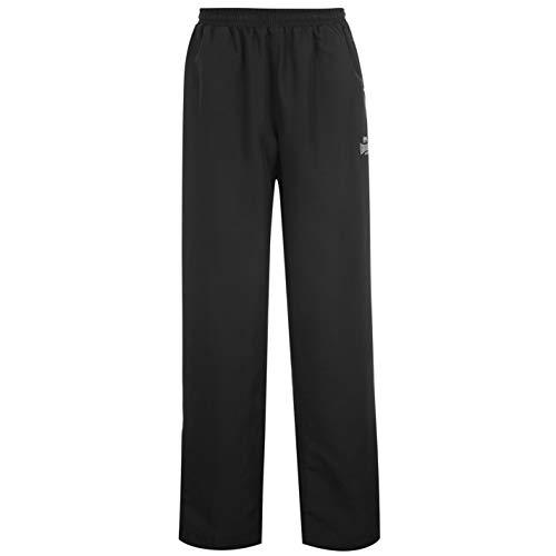 Lonsdale Trainingshose für Herren, offener Saumabschluss, elastischer Bund, Webstoff XXXL schwarz
