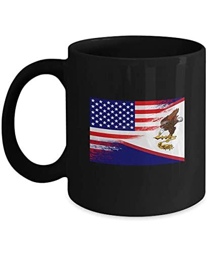 USA Amerikanisch-Samoa Flagge Samoanische 11oz schwarze Kaffeetasse Teetasse