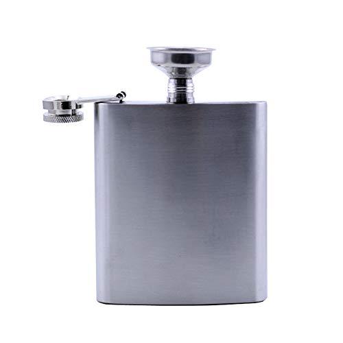Fiaschetta portatile da 6 oz in acciaio inox di grado alimentare, con fiaschetta da campeggio, ideale come regalo per uomini o donne, bottiglia di liquore portatile all'aperto