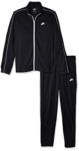 Nike M NSW CE TRK Suit PK Basic Survêtement Homme, Black/White/(White), FR : M (Taille Fabricant : M)