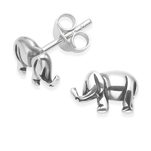 Heather Needham Sterling Silver Elephant Earrings - Silver Elephant Studs SIZE: 6mm 5081. Gift Boxed