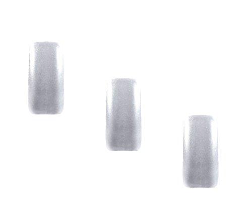 Nail Art Chromé pigments 1 G Argent # 1 Effet miroir chrome Métal Mirror Powder 3 pièces – Fabriqué en Allemagne