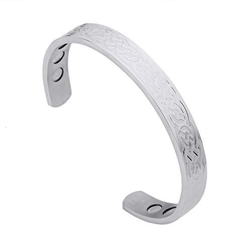 HLARK Viking Armband Gezondheidszorg RVS Heren Armband Armband met Super Magneet