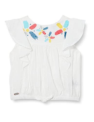Tuc Tuc Blusa popelín Draw A Rex bluzka dla dziewczynek, biały, 18 Miesiące