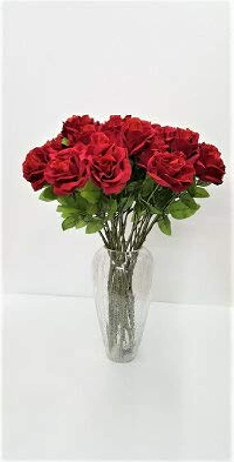 ベンチ助言バスト造花薔薇 36本セットまとめ買い ベルベット生地 誕生日お祝い 新築お祝い 結婚お祝い パーテイ―に、イベントに