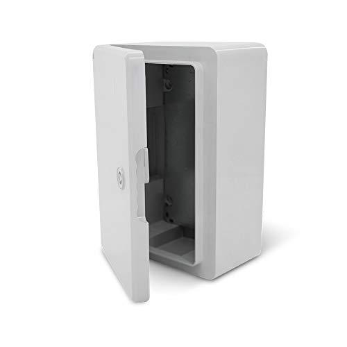 KOOP Elektro Schaltschrank Industriegehäuse IP65 verzinkter Montageplatte Verriegelung Tür mit umlaufender Dichtung Wandgehäuse Gehäuse Leergehäuse ABS Kunststoff leer Schrank 200x300x130 20x30x13