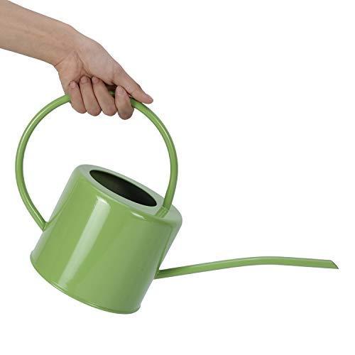 Asvert Long Spout Watering Can Pot Rustic Retro Textured Gardening Tools 1.7L/ 57oz (Green)