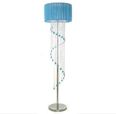 Leselampe Stehlampe K9 Kristallbett Stehlampe LED-Stehleuchte Fußschalter,Blue