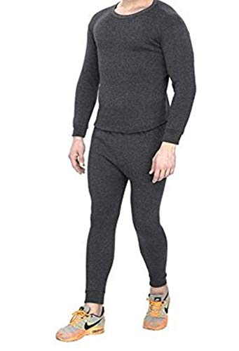Younky Unisex Winters Woolen Thermal Wear Top and Bottom| Top-Thermal-01 |Black| Free Size