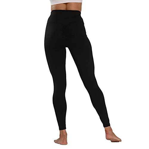 QTJY Nalgas de Cintura Alta Pantalones de Yoga para Mujer Pantalones de Fitness de Secado rápido elásticos Leggings para Exteriores Pantalones de Jogging Pantalones de chándal AS