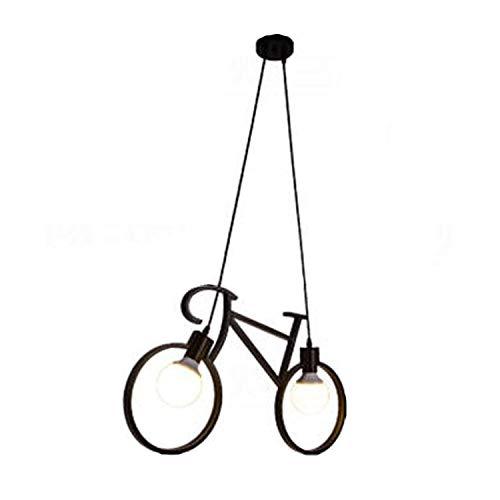 Injuicy Modernen E27 LED Fahrrad Pendelleuchten Hängelampe Metall Deckenleuchte Kronleuchter Hängenden Lampen Bar Schlafzimmer Cafés Restaurants Wohnzimmer Küchenlampe Kinderzimmer (Schwarz)
