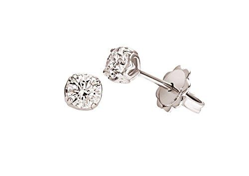 Orecchini Solitario Anniversary Recarlo Kt. 0,45 Diamante E Oro Bianco