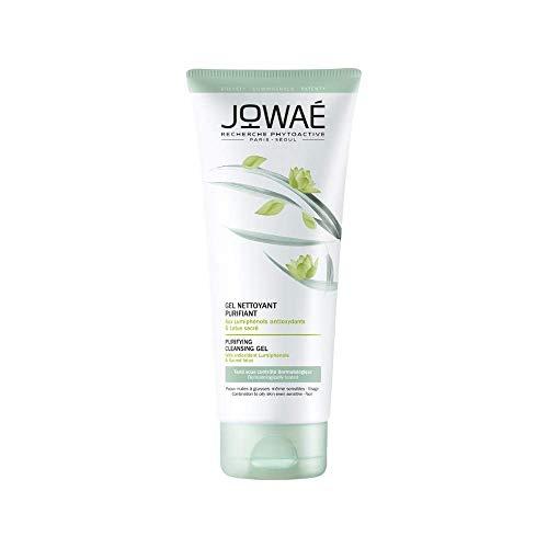 JOWAÉ Gel Viso Detergente Purificante a Risciacquo con Loto Sacro, per Pelle Mista e Grassa, anche Sensibile, Formato da 200 ml