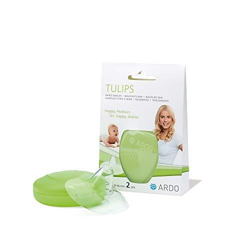 Ardo Tulips Brusthütchen aus Silikon – Größe S – Hauchzartes BPA-freies Stillhütchen für schmerzende Brustwarzen beim Stillen – Erleichtert die Ernährung des Babys mit Muttermilch – 16mm