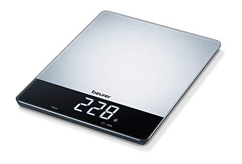 Beurer, Ks 34 - Báscula de cocina de acero inoxidable con capacidad de hasta 15 kg – 1,02 kg