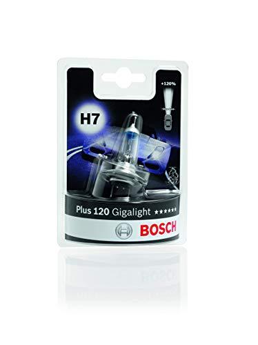 Lámpara Bosch para faros: Plus 120 Gigalight H7 12V 55W PX26d (Lámpara x1)