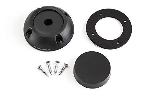 Scanstrut Deck Seal DS40-P, zwarte deuropening, kabeldoorvoer van kunststof, tot 40 mm stekker en 12-15 mm kabel voor jacht, boot IPX6 en IPX7