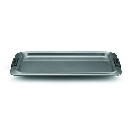 Anolon Advanced Nonstick Bakeware with Grips, Nonstick Cookie Sheet / Baking Sheet – 10 Inch x 15 Inch, Gray