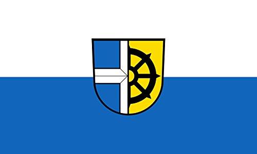 Diplomat magFlags Raum-Fahne mit modernem verchromtem Fahnenständer und Marmor-Fuß | Flagge: Oberhausen-Rheinhausen 90x150cm | Höhe: 230cm