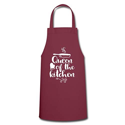 Spreadshirt Queen Of The Kitchen Kochschürze, Bordeaux