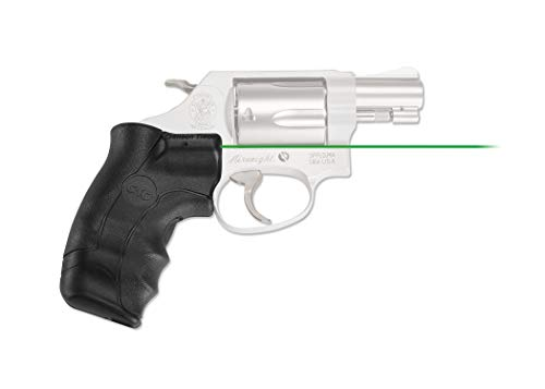 Crimson Trace LG-350G Lasergrips with Green Laser, Heavy Duty Construction and Instinctive Activation for Smith & Wesson, J-Frame Round Butt, Defensive Shooting and Competition