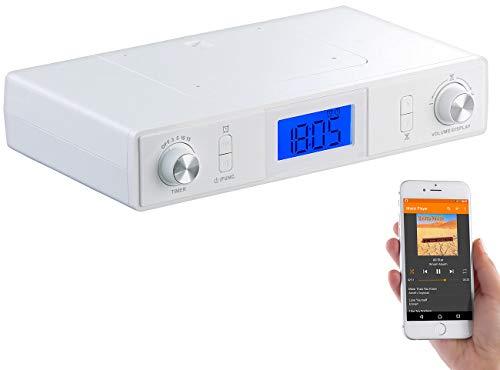 auvisio Unterbau Küchenradio: Stereo-FM-Küchen-Unterbauradio mit Bluetooth, Timer, Wecker, LCD, PLL (Küchenunterbauradio)
