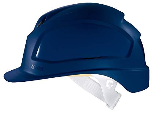 Uvex Pheos B Schutzhelm - Belüfteter Arbeitshelm für die Baustelle - Blau Blau