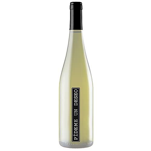 PÍDEME UN DESEO Vino Blanco Semidulce 75cl. Incluye 3 Wishpaper. Quemar Después de Brindar (1 Botella)