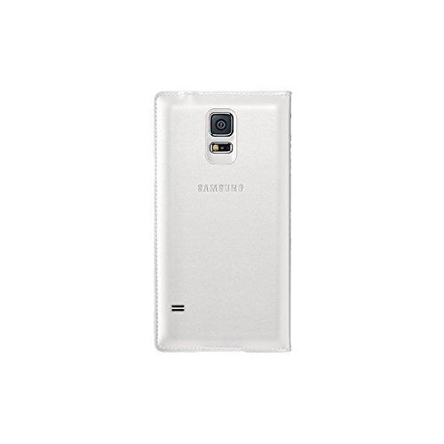 Samsung Flip Wallet Hülle Case Cover mit Kartenfach für Galaxy S5 - Weiß