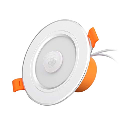 Chidjon LED Einbaustrahler AC85-265V Bewegungsmelder LED Deckenleuchte Restaurant Badezimmer Balkon Lampen Scheinwerfer (5W)