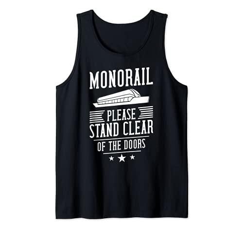 Por favor mantngase alejado de las puertas monorral Camiseta sin Mangas