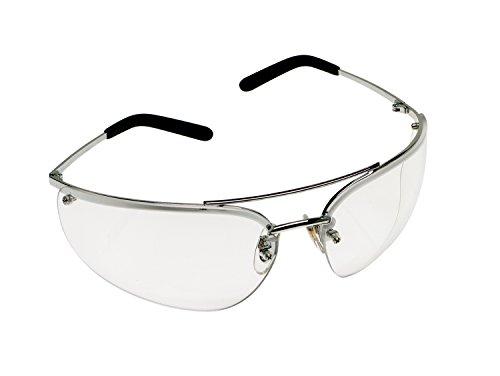 3M Metaliks Protective Eyewear, 15170-10000-20 Clear Anti-Fog Lens, Polished Metal Frame