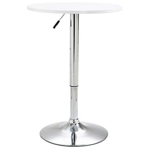 FAMIROSA Bar Table White 脴60 cm MDF-9667