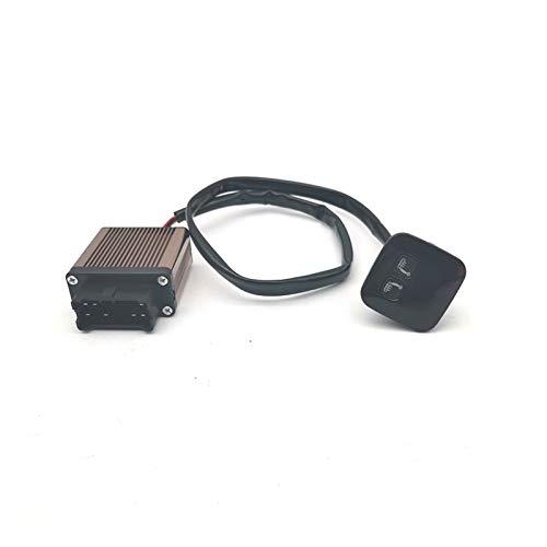 JYXZQZZ Interruptor de calefactor digital de 5 marchas, 2 asientos, 12 V, ajuste para asiento de conductor y pasajero, juego de calefacción automática