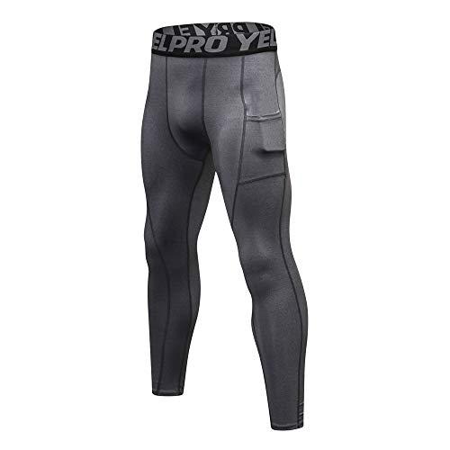 Holataa Pantalones Hombre Deportivos Mallas Hombre Running con Bolsillo Pantalón de Compresión de Fitness Yoga