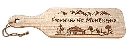Tabla de cortar de madera de cocina de Montagne, color marrón